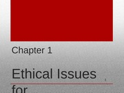 Chapter 1 Ethics