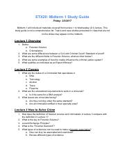 Midterm1 Study Guide