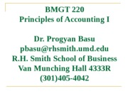 BMGT 220 - Chapter 1