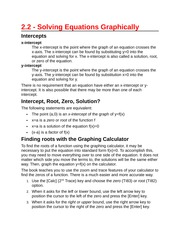 2.2 - Solving Equations Graphically