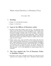 13. rules versus discretion in monetary policy
