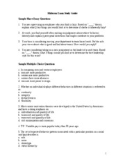 buad exam study guide