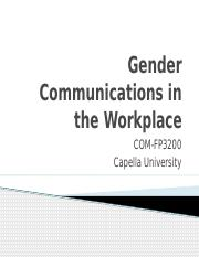 COM-FP3200_Barriers to Communication due to Gender in the Workplace