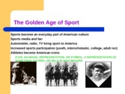 Sport in the early 1900s- test 3