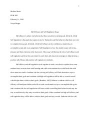 Self regulation essay