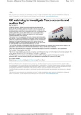Tesco article Reuters 2014
