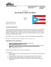 LAT 125 Puerto Rican Culture and Folklore - Nieves Fall 2017(2).pdf