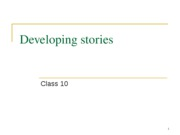 developing stories ppt