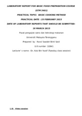 2) LABORATORY REPORT FOR BASIC FOOD PREPARATION COURSE 2