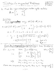Example Linear Algebra Problems
