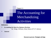 03. The Accounting for Merchandising Activities
