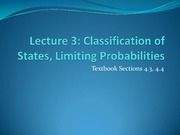 Classification of States, Limiting Probabilities