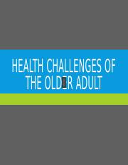 Health challenges of the older adult - posting audio.pptx