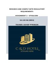 Research and comply with regulatory requirements assessment 2 ( KA LOK NG).pdf