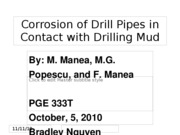 Corrosion of Drill Pipes in Contact with Drilling
