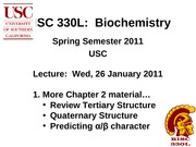 BISC 330 Spring 2011 Lecture 7