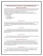 Monetary Policy Transmission Mechanism.docx