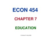 CHAPTER 7 EDCATION