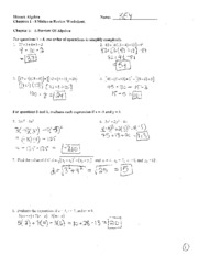 Review Packet Solutions Ch 1-3