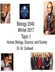02 Biology 2040 W17 Topic 1 Human Biology, Science, and Society.pdf