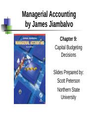 8 ch09 Capital Budgeting Decisions