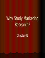 Chapter 1 Role of Marketing Research