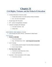 Civil Rights, Vietnam, and the Ordeal of Liberalism notes