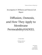 investigation 4 diffusion and osmosis lab report