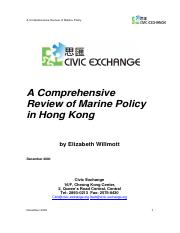 L3 A Comprehensive Review of Marine Policy in Hong Kong (Essential)