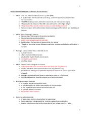Review Questions Chapter 12 Nervous Tissue- Answers