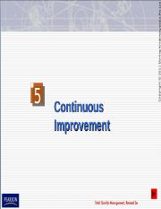 Chapter 5 Continuous Improvement