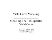 Modeling Tax-Specific Yield Curve