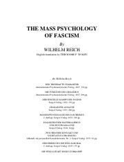 The Mass Psychology of Facism - Wilhelm Reich
