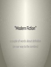 Modern Fiction and zombies.pptx