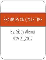 EXAMPLES ON CYCLE TIME.pptx
