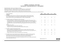 Marking Rubric - Practice Case 1