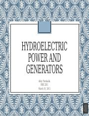 Hydroelectric Power and Generators.pptx