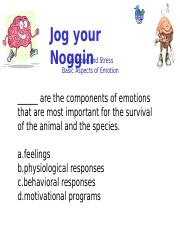 Emotions, Attitudes & Stress Practice Quiz.ppt