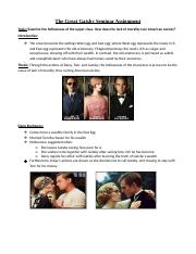 The Great Gatsby Seminar Assignment.docx