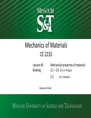 CE 2210, Lecture #3, Mechanical Properties of material (active notes).pdf
