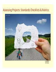 Assessing Projects [Standard Checklists & Rubrics].pdf