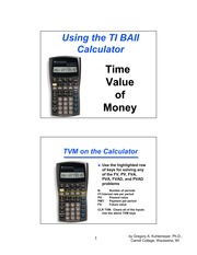 BAII Calculator Guide to TVM Calculations