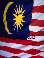 MPW 2133 - CH3 -- National Policies