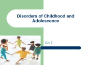 Disorders of Childhood and Adolescence 09 (2)