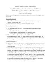 Final Exam 314-Fall 2015-study questions