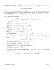 Test #2: Laplace Transforms and Higher-Order Linear ODE's (Solutions)