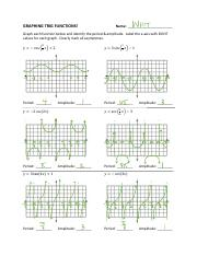 14.5..Graphing Trig Functions SOLUTIONS