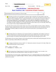 basic statistics tutorial pdf