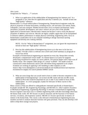 bioengineering essay