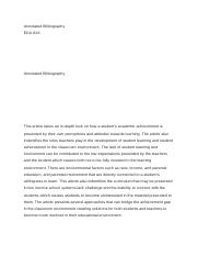 ECO 561  Annotated Bibliography.docx
